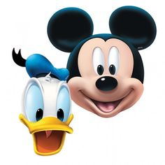 Mickey Mouse Dress Up Card Masks - Fancy Dress Party Bag Fillers Face Mask Disney Mickey Mouse, Mickey Mouse Y Amigos, Minnie Y Mickey Mouse, Mickey Mouse Donald Duck, Mickey Mouse And Friends, Mickey Ears, Mickey Mouse Printable, Mickey House, Mickey Party Decorations