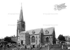 Plymouth, Charles Church 1889, from Francis Frith