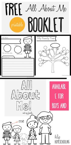 All About Me Worksheet for Kids- Free printable all about me booklet for homeschool kids grades K-3. Perfect for Social Studies and Language Arts!
