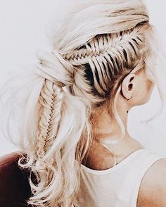 Fishtail braids to die for!!
