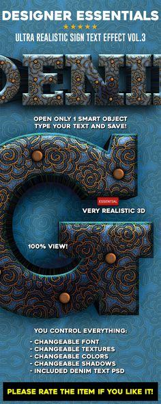 Designer Essentials Ultra Realistic Text Effect Vol.3