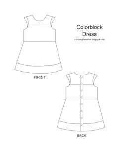 Climbing the Willow: colorblock dress - drafting the pattern