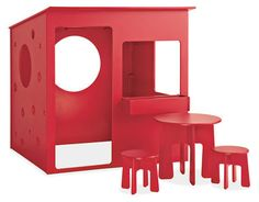 Now this is a playhouse! (and it doesn't warp or fade, and made 100% out of recycled plastic).