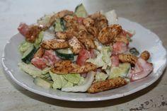 Šalát s kuracím mäsom Healthy Snacks, Healthy Recipes, Vegetable Recipes, Cobb Salad, Potato Salad, Lunch, Chicken, Vegetables, Ethnic Recipes