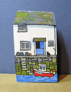 Red Boat Cottage by jamjarart on Etsy by Joy Williams