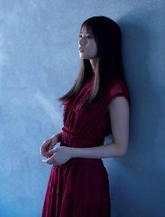 Asian Woman, Asian Girl, Saito Asuka, Japanese Girl, Idol, High Neck Dress, Short Sleeve Dresses, Slim, Elegant