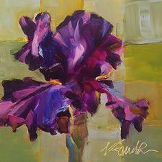iris, original oil painting