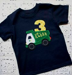 BEEP BEEP Custom Garbage Truck Applique Birthday by bebeboutiques, $28.00
