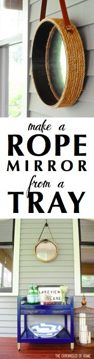{DIY} Make a Rope Mirror From a Tray