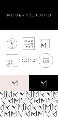 modern studio contemporary branding design brand logo graphic minimal clean elegant simple M angles linear geometric sharp identity