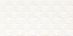Faianta baie alba  rectificata Adilio bianco Fan sciana structura Paradyz 29,5×59,5 cm  Faianta baie alba rectificata ce adauga spiritul naturii in vremurile moderne. Colectia de gresie si faianta baie alba  rectificata Adilio combina forme geometrice aurii cu albul pur, care da perfect o atmosfera unica spațiului. #faiantaalba, #faiantabaiealba, #faiantaalbarectificata