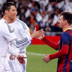 Leo Messi and Cristiano Ronaldo  El Classico 2014  FC Barcelona vs Real Madrid  4-3