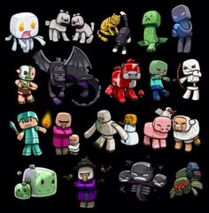 Super cute minecraft characters