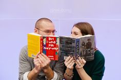 Funny book titles // Library Engagement Sessions // © gntphoto.com