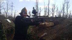 ASVK rifle in Donbass. Produced in Russia since 2013. Never exported to Ukraine.