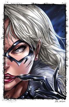 ☆ Black Cat :¦: Sketch & Inks Artist: Jamie Tyndall :¦: Colors Artist: Ula Mos ☆