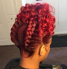 Goddess Braids With Curls Updo - Hair - Braided Hairstyles Updo, Braided Updo, Girl Hairstyles, Wedding Hairstyles, Protective Hairstyles, Hairstyles Pictures, Mohawk Braid, Teenage Hairstyles, Style Hairstyle