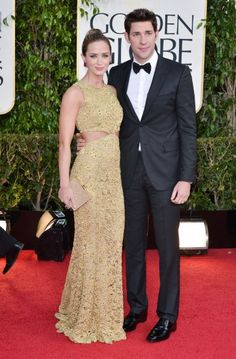 Most Stylish Celebrity Couples In Love - Emily Blunt & Jonathan Krasinski   / Photo by George Pimentel