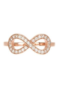 Rose Gold Vermeil Pave CZ Infinity Ring by Adam Marc on Rose Gold Infinity Ring, Infinity Rings, Infinity Jewelry, I Love Jewelry, Jewelry Box, Jewlery, Handbag Accessories, Jewelry Accessories, Uggs For Cheap