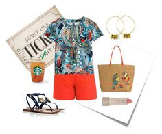 """""""Outdoor Concert"""" by crsevier ❤ liked on Polyvore featuring Post-It, WALL, Carven, J.Crew, Tory Burch, Vera Bradley and Ilia"""