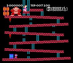 Donkey Kong is where Mario gets his first shot at being a hero and saves his girlfriend, Pauline from the evil hairy ape.