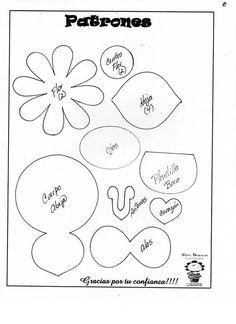 Abelhinha com flores_molde