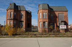 Abandoned Brush Park Neighborhood, Detroit MI