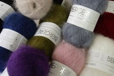 Superkid Mohair Mix.  58% Superkid Mohair, 37% Polyamide, 5% Wool.