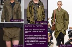 #Trendstop SS17 Mens Color on #WeConnectFashion. Key Essential Theme: Maximum Green