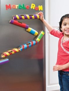 Toilet Paper Roll Marble Run