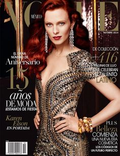 Vogue México October 2014 | Karen Elson by Alexi Lubomirski