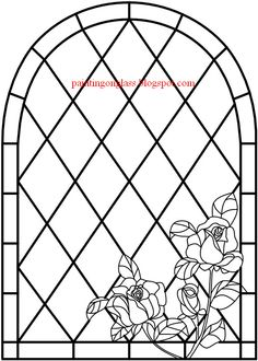 stained glass ROSES patterns - Google Search
