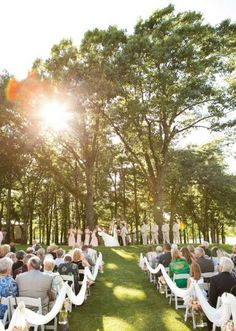 Outdoor altar at the Golf Club of Oklahoma. Photo by Brittany Ashton Photography. #wedding #altar