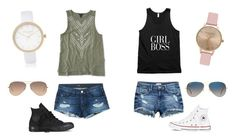 """""""Twinning with bæ"""" by emerson-lea on Polyvore featuring 3x1, Converse, Ray-Ban, River Island, Topshop and Aéropostale"""