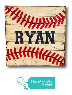 Vintage Bedroom Wood Baseball Sign - Baseball Bedroom Decor - Baseball Nursery Decor - Boy Name Sign - Baseball Art - Baseball Gift - Baseball Player Gift - Baseball Signs, Sports Signs, Baseball Crafts, Sports Decor, Baseball Art, Hs Sports, Toddler Sports, Baseball Painting, Baseball Videos
