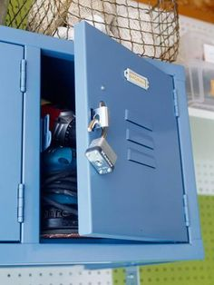 Great idea: Add a few small lockers to the wall of your mudroom, to keep power tools, dangerous chemicals, and sharp items away from kids. | 11 mudroom organization tips | Living the Country Life | http://www.livingthecountrylife.com/homes-acreages/country-homes/11-mudroom-organization-tips/