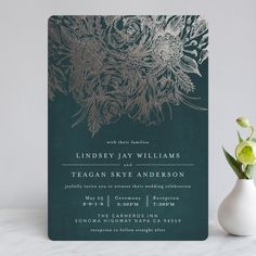 """""""Sketched Bouquet"""" - Foil-pressed Wedding Invitations in Petal by Phrosne Ras. Foil Stamped Wedding Invitations, Classic Wedding Invitations, Indigo Wedding, Different Wedding Ideas, Wedding Stationery Inspiration, Holiday Photo Cards, Celebrity Weddings, Bouquet, Personalized Wedding"""