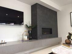 Image result for pietra grigio fireplace