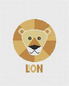 Lion head cross stitch pattern Baby cross stitch Nursery cross