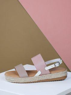 f1c6eb6eb07 Double Band Slingback Jute Trim Flatform Sandals
