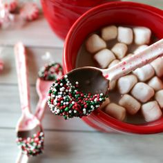 Today I want to share with you one of my personal favorites - DIY Peppermint Candy Spoons - eeeeeeeekkkkkkk these are SOOOO cute and, of course, they are really easy to make!