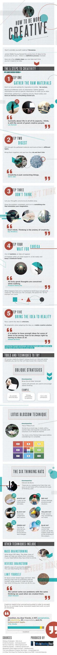Cómo ser más creativo