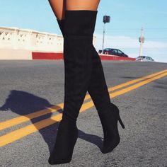 ideservenewshoesblog:  Major Attitude - Black Boots By Lolashoetique