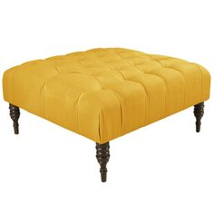 Shop for Skyline Furniture Tufted Cocktail Ottoman in Linen French Yellow. Get free shipping at Overstock.com - Your Online Furniture Outlet Store! Get 5% in rewards with Club O!