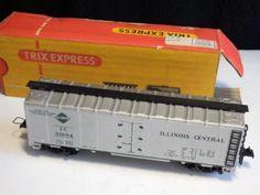 Raritaet-HO-Rivarossi-Illinois-Central-C-Reef-2-Gueterwagen-IC51604-Trix-Box