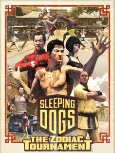 Sleeping Dogs / DLC the Zodiac Tournament / Square Enix Dog Zodiac, Gangster S, Sleeping Dogs, Hd Desktop, Video Game, The Unit, Games, Movie Posters, Sandbox