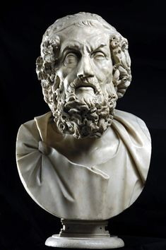 Portrait of Homer                                                                              Sculpture                                                                            From a 200 BC Hellenistic original                                                                             Marble