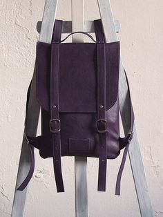 Dark violet leather backpack rucksack / To order / Leather backpack / Leather rucksack / Womens backpack / Christmas Gift / Dark violet leather backpack rucksack / To order / Leather backpack / Leather rucksack / Womens backpack / Christmas Gift Rucksack Backpack, Leather Backpack, Purple Leather, College Fashion, Leather Shoes, Laptop, Backpacks, Etsy, My Style