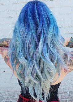 Pastel Blue Mermaid Ombre