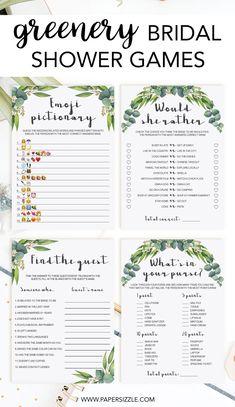 Entertain your bridal shower guests with this popular wedding shower games Wedding Shower Games, Wedding Showers, Green Bridal Showers, Diy Wedding On A Budget, Wedding Ideas, Eucalyptus Wedding, Shower Accessories, Bridal Shower Decorations, Shower Invitations